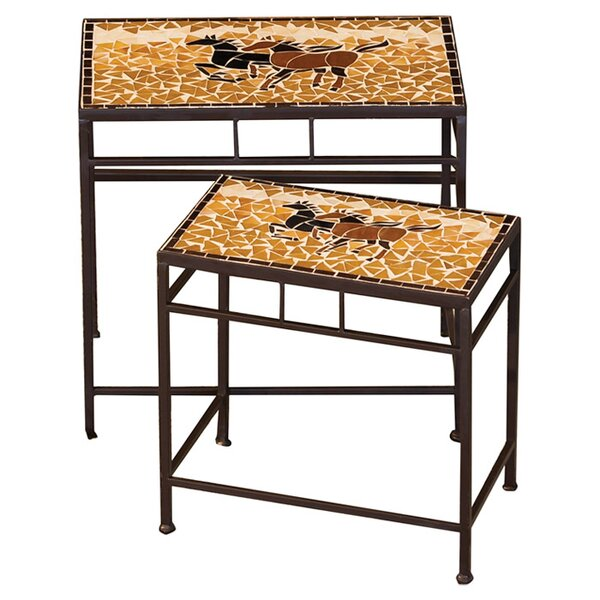 2 Piece Caballo Indoor/Outdoor Side Table Set by Evergreen Flag & Garden