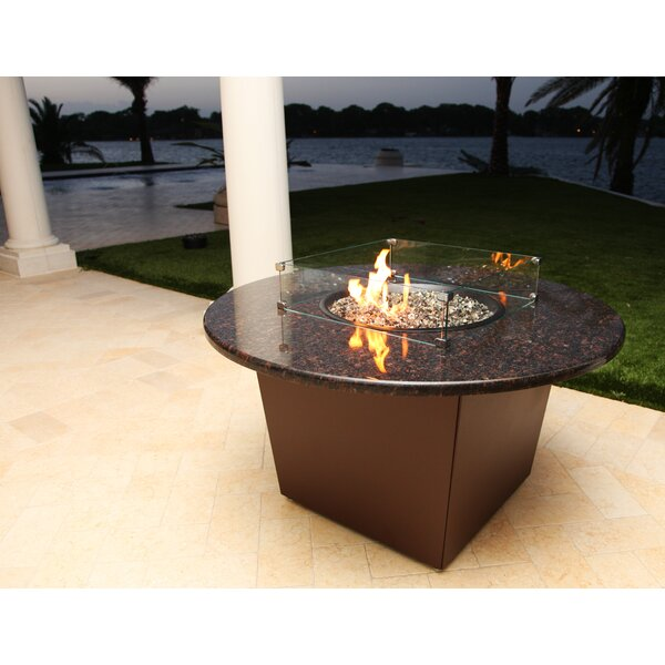 Riviera Aluminum Gas Fire Pit Table by Firetainment