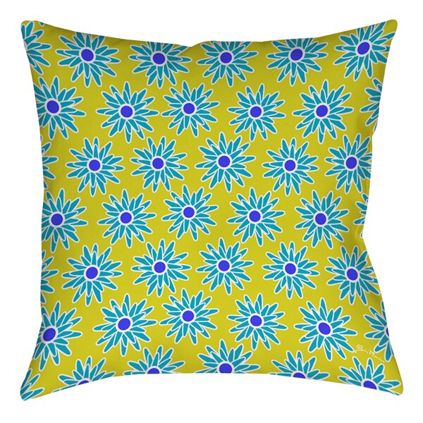 La Roque Summer Starburst Printed Throw Pillow by Manual Woodworkers & Weavers