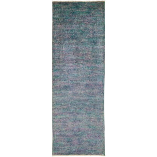 One-of-a-Kind Vibrance Hand-Knotted Purple / Blue Area Rug by Darya Rugs