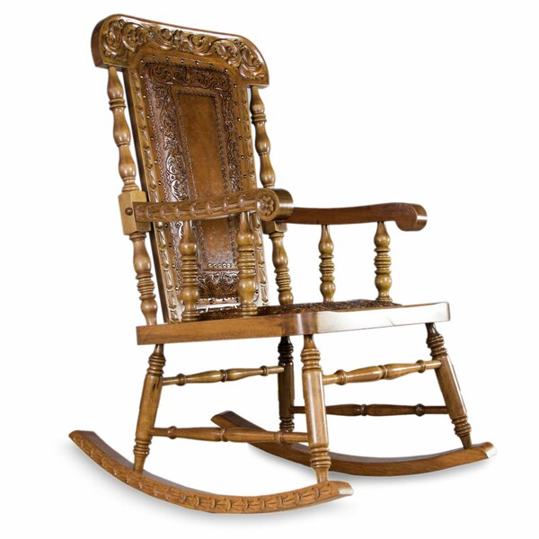 Mclane Royal Rocking Wood Chair by Bloomsbury Market