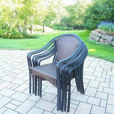 Cheree Stacking Patio Dining Chair (Set Of 6) By Winston Porter