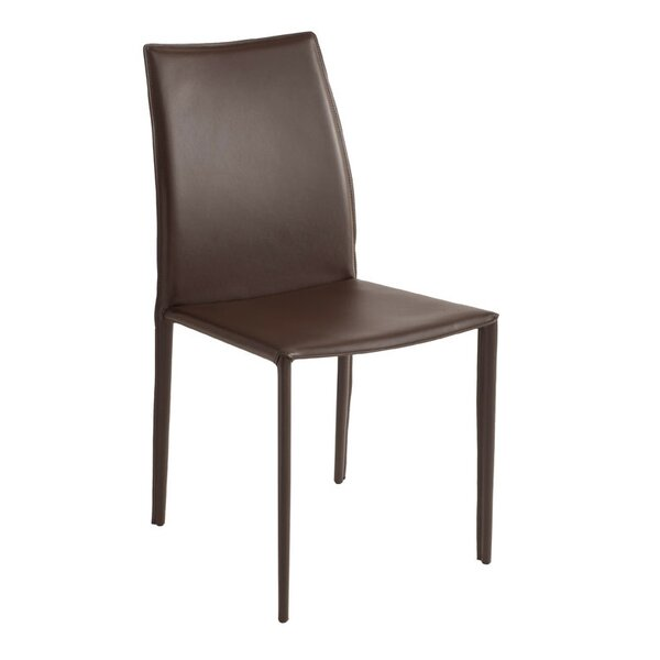 Woodhollow Leather Upholstered Dining Chair by Ebern Designs