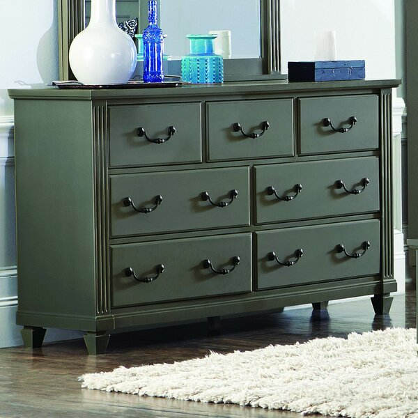 Gunther 7 Drawer Standard Dresser by Alcott Hill