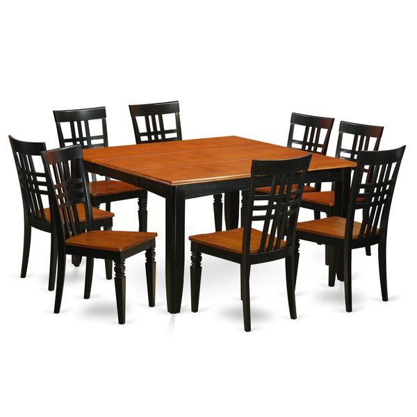 9 Piece Dining Set by East West Furniture