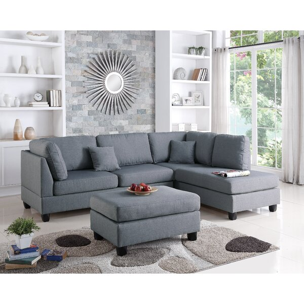 Lauria Right Hand Facing Sectional with Ottoman by Red Barrel Studio Red Barrel Studio