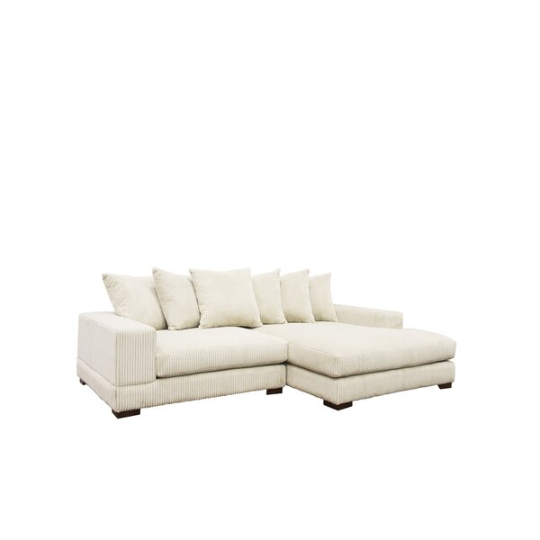 Cool Trendy Luxe Right Hand Facing Sectional by Home by Sean & Catherine Lowe by Home by Sean & Catherine Lowe