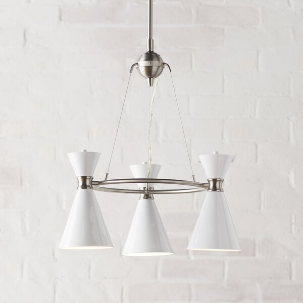 Silas 3 - Light Shaded Wagon Wheel Chandelier By Foundstone
