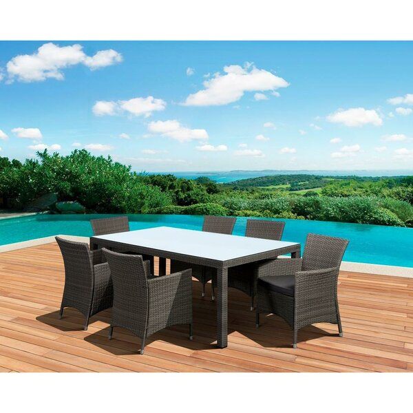 Pallara Deluxe 7 Piece Dining Set with Cushion by Latitude Run