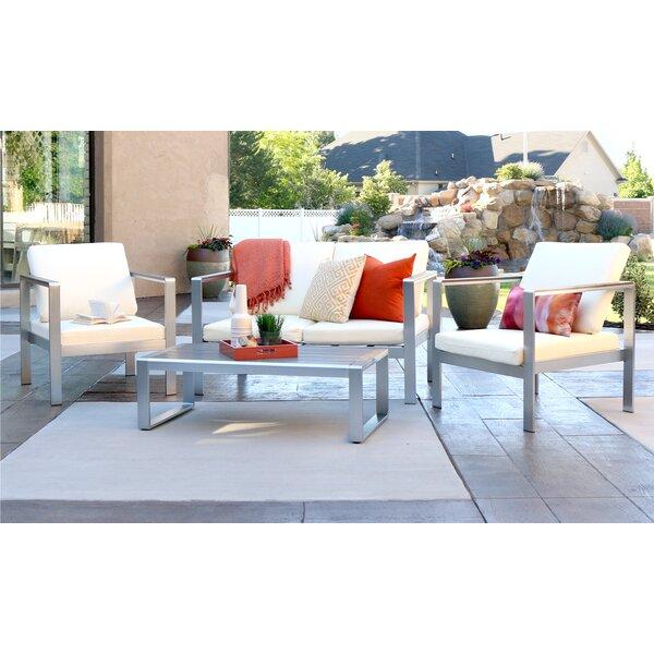Jody 4 Piece Sofa Set with Cushions by Wade Logan