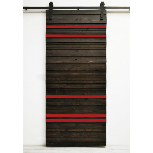 Line Em Up Wood 1 Panel Interior Barn Door by Dogberry Collections