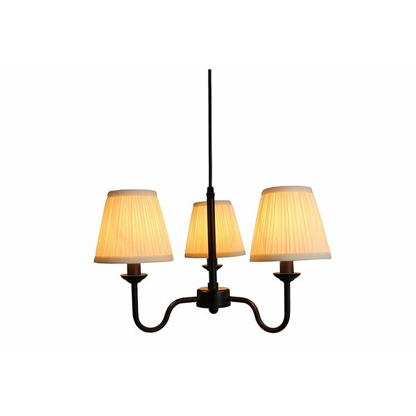Edna 3 - Light Shaded Classic / Traditional Chandelier By Charlton Home