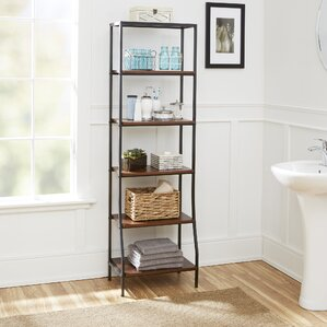 Bathroom Etagere free standing bathroom shelving you'll love | wayfair