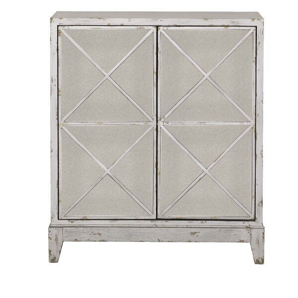 Ono Mirrored Geometric 2 Door Accent Cabinet by Wrought Studio Wrought Studio