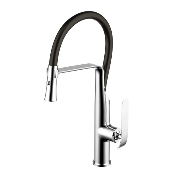 Pull Down Single Handle Kitchen Faucet by dCOR design
