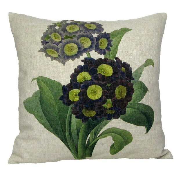 Purple Primrose Throw Pillow by Golden Hill Studio