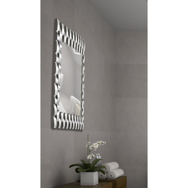 Unique Rectangular Convex Panel Framed Wall Mirror by Majestic Mirror