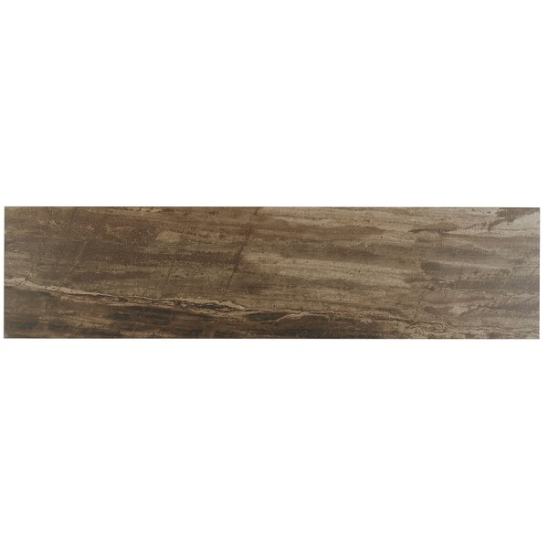 Mansfield 6 x 24 Porcelain Wood Look Tile in Muddy Banks by Itona Tile