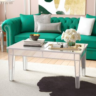 Mirrored Coffee Tables Youll Love Wayfair - Wayfair mirrored coffee table