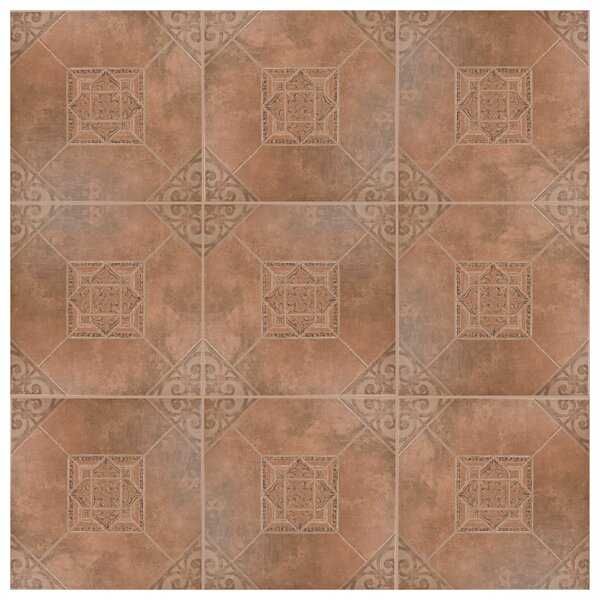 Montes 17.63 x 17.63 Ceramic Field Tile in Teja by EliteTile