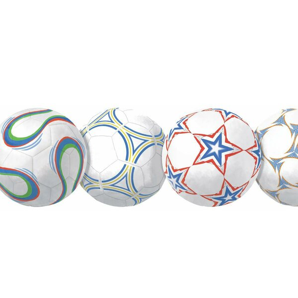 Room to Grow New Soccer Ball Wall Border by York Wallcoverings