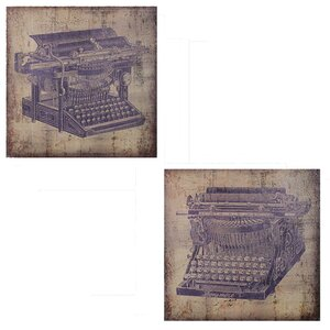 'Printer' 2 Piece Painting Print Set on Wrapped Canvas by Entrada