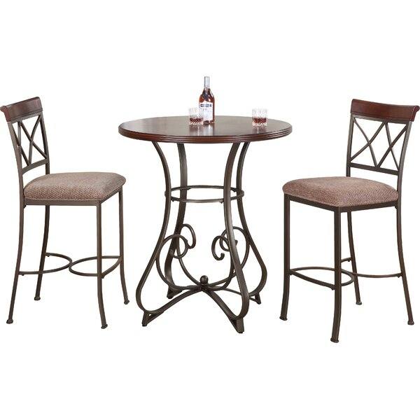 Lina 3 Piece Pub Table Set by Fleur De Lis Living