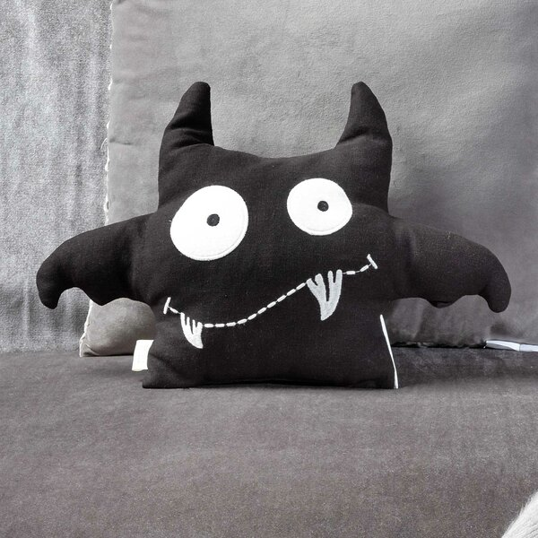Bat Crazy Throw Pillow by The Holiday Aisle