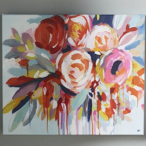 'Fleur' Painting Print on Wrapped Canvas by Willa Arlo Interiors