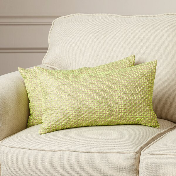 Berniece Box Stitch Lumbar Pillow (Set of 2) by Mercer41