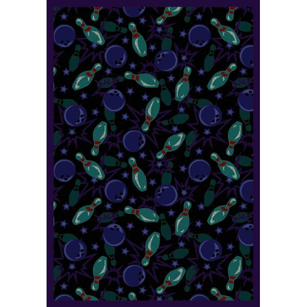 Black/Cool Blue Area Rug by The Conestoga Trading Co.