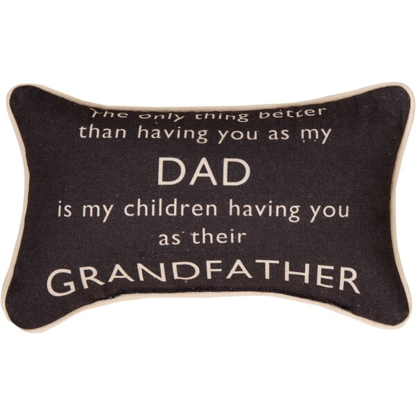 The Only Thing Better... Grandfather Word Cotton Lumbar Pillow by Manual Woodworkers & Weavers