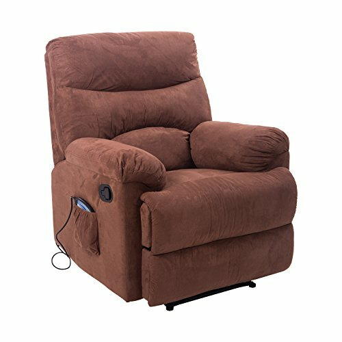 Suede Heated Massage Chair with Remote by Red Barr