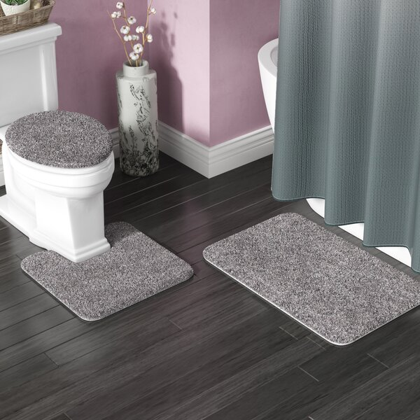 Kober 3 Piece Solid Bath Mat Set by Zipcode Design