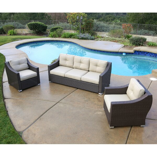 Leib 3 Piece Sofa Seating Group with Cushions by Latitude Run