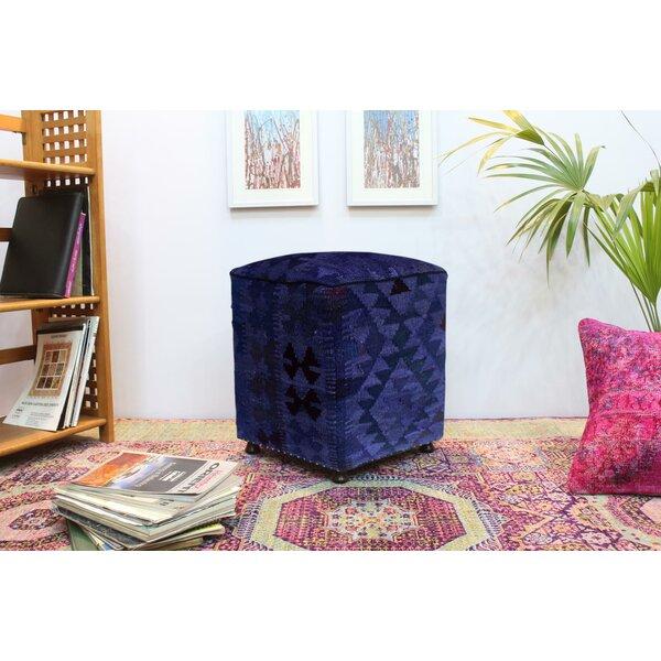 Brasfield Kilim Cube Ottoman By Union Rustic