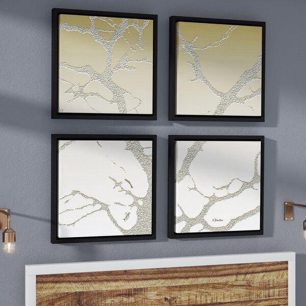 Morning Light On Tree 4 Piece Framed Photographic Print on Canvas Set by East Urban Home