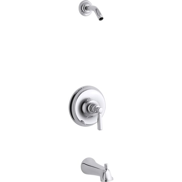 Kohler Bancroft Rite-Temp Bath and Shower Valve Trim with Metal Lever Handle and Slip-Fit Spout Less Showerhead by Kohler Kohler