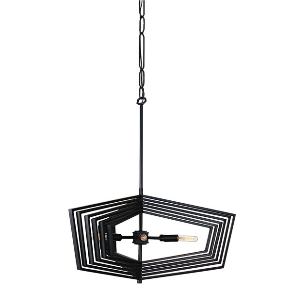 Markley 6-Light Geometric Chandelier by Wrought Studio