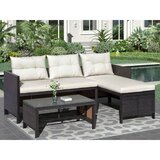 Agn Egrave S Outdoor 3 Piece Rattan Sofa Seating Group With Cushions By Latitude Run Onsales Discount Prices Vnbhgyrtf