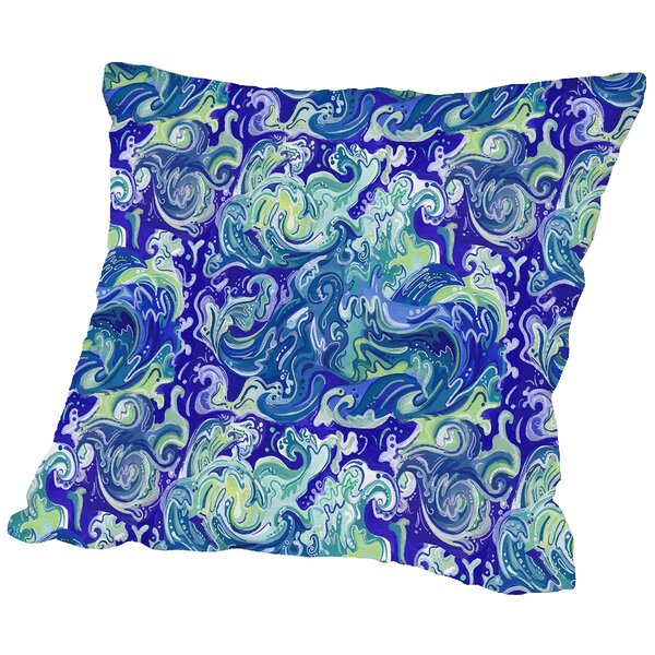 Wavetital Throw Pillow by East Urban Home