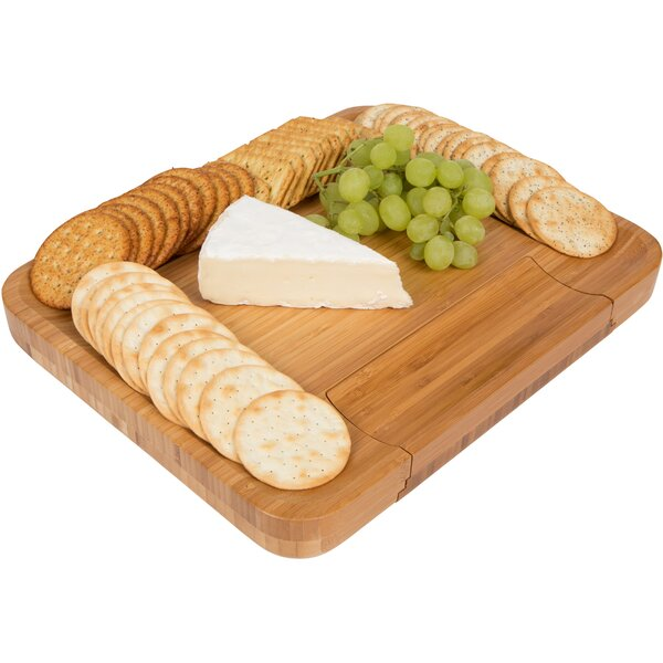 Bamboo Cheese Cheese Tray by Trademark Innovations