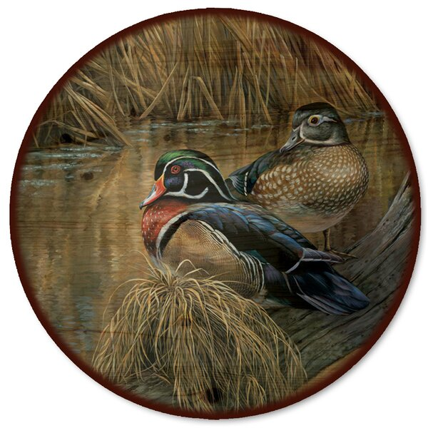 Back Waters Wood Duck Lazy Susan by WGI-GALLERY