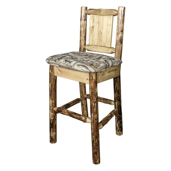 Southborough 24 Solid Wood Bar Stool by Loon Peak