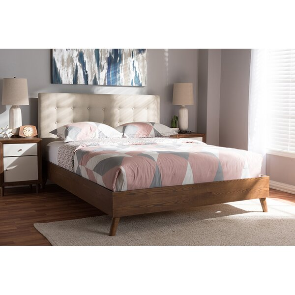 Nicks King Upholstered Platform Bed by George Oliver