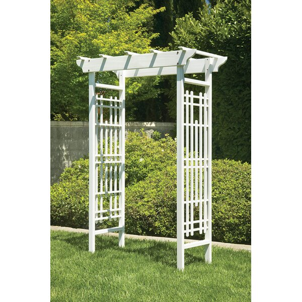 Wedding Wood Arbor by Greenstone Garden Structures