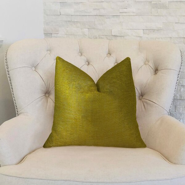 Lemon Curry Cotton Throw Pillow by Plutus Brands
