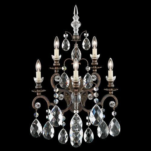Renaissance 5-Light Candle Wall Light by Schonbek