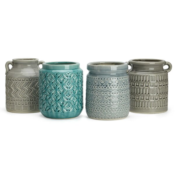 Chenley Ceramic Utensil Containers 4 Piece Table Vase Set by Union Rustic