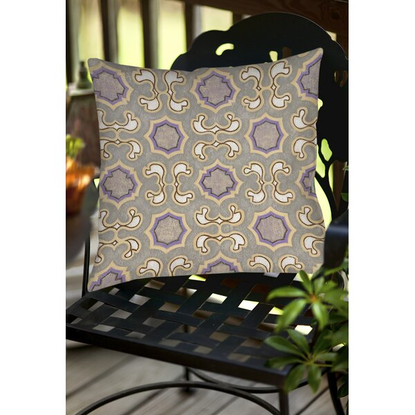 Plum Scene 1 Indoor/Outdoor Throw Pillow by Manual Woodworkers & Weavers